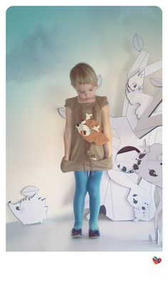 girls dress BAMBI MINIMA. by BOOkidswear on Etsy