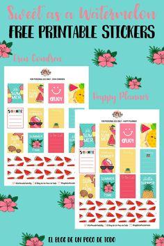 Free Printable Watermelon Planner Stickers   El Blog de Un Poco de Todo
