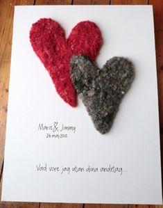 Bröllopstavla / kärlekstavla Canvas Art, Card Making, Marriage, Presents, Words, Creative, How To Make, Diy, Handmade