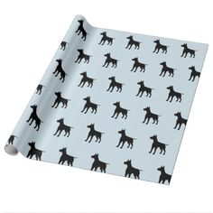 Blue and Black Dog Wrapping Paper - paper gifts presents gift idea customize
