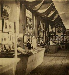Alfred Stieglitz, Photograph Department-Philadelphia San'y Fair-June/'64, 1864, June (handwritten), Stereocard The Jeffrey Kraus Collection