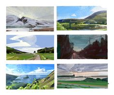 ArtStation - daily 10 min thumbnails learning to see Lip Comarella Environment Sketch, Sketch Background, Composition Art, Landscape Concept, Architecture Art, Illustrators, Concept Art, Scenery, Sketches
