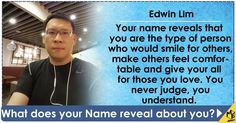 Your name reveals a lot about your personality and as it turns out your personality is incredible. You name drives you to succeed and yet your humility is what defines you as a person. Share this with your friends and let them know what your name stand for. http://meaww.com/activities/result/name_future_you/2669/38262461472820197#_=_