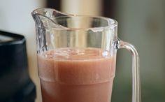 Vitamina de goiaba com mel e castanha de Caju