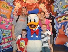 My daughter and family at Disney World - 2012.