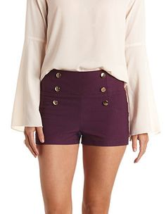 Stretchy High-Waisted Sailor Shorts: Charlotte Russe