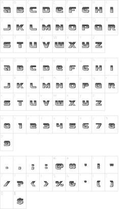 Terran Chrome Regular font character map