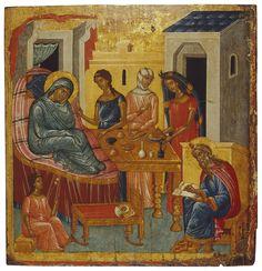 Icon: The Birth of St John the Baptist  Mediterranean, Second half of the 15th century
