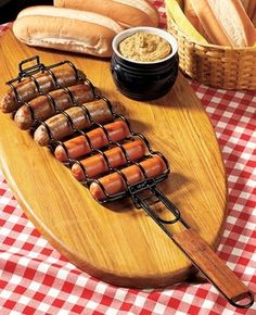 hot dog grill basket...good camping gift for us