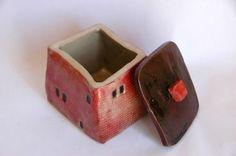 small ceramic house box