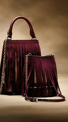 Elderberry The Baby Bucket Bag in House Check and Fringing - Image 7