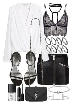 A fashion look from April 2016 featuring white blouse, Anine Bing and Stuart Weitzman. Browse and shop related looks. Bad And Boujee Outfits, Edgy Outfits, Night Outfits, Pretty Outfits, Fashion Outfits, Womens Fashion, All Black Fashion, Colorful Fashion, Clubbing Outfits