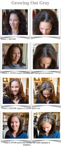 How to grow out your gray.