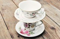 Teacup Dessert Stand | 15 Ways To Repurpose A Vintage Teacup