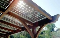 Can a pergola be functional and eco-friendly too? It can when you use solar power.