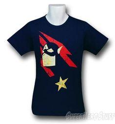Captain America Minimalist Print 30 Single T-Shirt