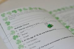 How to teach everything about St. Patrick (It's Clementine's) St Patrick, Everything, Language, Bullet Journal, Clip Art, Teaching, Personalized Items, Store, Paper