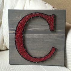 Letter C String Art- order from KiwiStrings on Etsy! www.kiwistrings.etsy.com