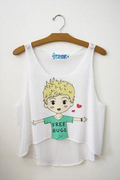 Niall Horan Free Hug Crop Top