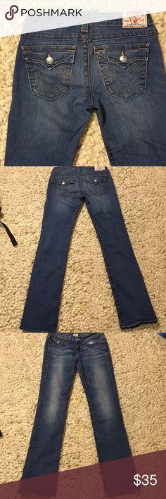 "True Religion ""Billy"" Bootcut Very lightly worn True Religion Bootcut jeans.  Inseam 32"".  Smoke free, pet free home True Religion Jeans Boot Cut"