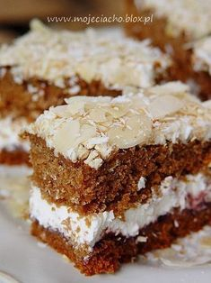 Polish Desserts, Polish Recipes, Sweet Recipes, Cake Recipes, Dessert Recipes, Honey Buns, Sandwich Cake, Sugar Cookies, Baked Goods