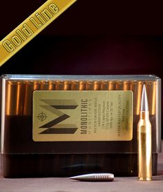 338 Lapua Magnum 232g SP GS Custom Target ammo from Monolithic munitions - custom lathe turned bullet