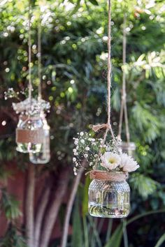 30 Totally Brilliant Garden Wedding Ideas for 2020 - EmmaLovesWeddings - rustic. - 30 Totally Brilliant Garden Wedding Ideas for 2020 – EmmaLovesWeddings – rustic wedding decoration ideas with hanging mason jars Lilac Wedding, Fall Wedding, Dream Wedding, Wedding Rustic, Perfect Wedding, Wedding In Nature, Outdoor Rustic Wedding Ideas, Wedding At Home, Rustic Outdoor Decor
