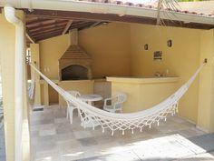 Churrasco e rede Interior Exterior, Bali, Backyard, House, Outdoor, Home Decor, Ad Home, New Houses, Outdoor Kitchens