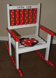 Shipping Sale Ladybug Rocking Chair by JanieBeans on Etsy, $120.00