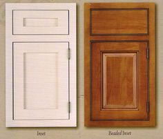 Attrayant Hereu0027s A Good Example Of Two Different Inset Door Options. The Paint Grade  Door And