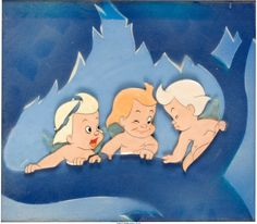 Fantasia Cupids Production Cel with Courvoisier Background (Walt Disney, 1940)
