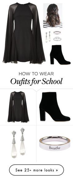 """Untitled #1340"" by mkk-18 on Polyvore featuring Karl Lagerfeld, Kenneth Jay Lane and Pink Box"