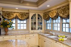 Ideas For Kitchen Window Treatments , Window treatments maximize what's referred to as view-by in a lot of means. Kitchen window treatments should not lead to a look that is a drastic cont. Kitchen Window Treatments, Custom Window Treatments, Mediterranean Home Decor, Pantry Design, Window Styles, Tuscan Style, Window Design, Beautiful Kitchens, Kitchen Decor
