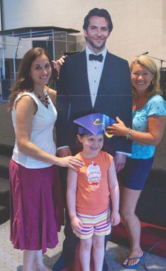 Bradley Cooper at preschool graduation practice