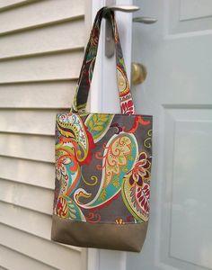 Cotton bag Diaper bag beach bag travel bag by beautifullbags