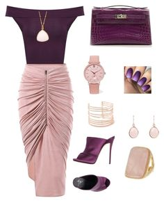 A fashion look from October 2017 featuring cowl neck top, zipper skirt and animal shoes. Browse and shop related looks. Larsson & Jennings, Alexis Bittar, Giuseppe Zanotti, Hermes, Shoe Bag, Purple, Polyvore, Stuff To Buy, Shopping