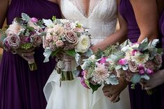 Incredibly elegant bridal bouquets by Pat's Floral Designs, photographed by Jack Looney Photography