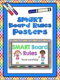 I was in need of a set of rules for the use of my SMARTBoard, hence this set of posters came to life! Just print, laminate and display near your SMARTBoard, ensuring your students know the rules well ahead of time. Two of the posters require a number input – just use a dry wipe marker and you can change the number as required. There are 2 sets included in this pack. The first has a pretty rainbow plaid background – this has been removed in the second set to be more ink-friendly.