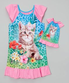 This Komar Kids Kitten Gown Set & Doll Outfit - Girls by Komar Kids is perfect! #zulilyfinds