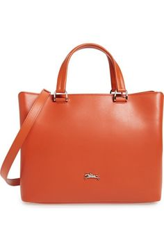 Longchamp 'Medium Honore 404' Leather Tote available at #Nordstrom