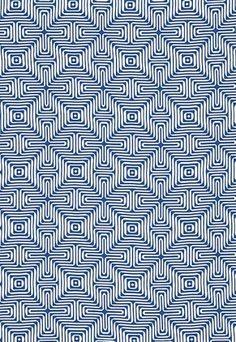 Fabric Patterns Amazing Maze Ocean 65320 by Schumacher Fabric Trina Turk Indoor-Outdoor 2 Sunbrella - Wyzenbeek - Fabric Carolina - Schumacher - Overview Details Shipping Geometric Patterns, Graphic Patterns, Textile Patterns, Pattern Dots, Doodle Pattern, Pattern Design, Pretty Patterns, Beautiful Patterns, Color Patterns