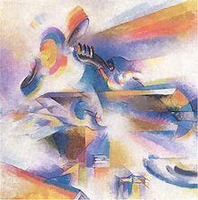 Stanton MacDonald-Wright, Airplane Synchromy in Yellow-Orange, 1920, oil on canvas, Metropolitan Museum of Art, New York