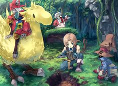 Final Fantasy IX: Travelling to Burmecia, to repel Queen Brahne's attack. Freya, Quina, Zidane, and Vivi uncover Chocobo Forest.  With the aid of Choco and Mene search for secret treasures.