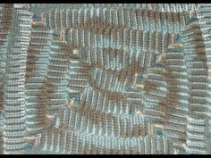 ▶ How to make a 10 stitch blanket on a knitting loom - YouTube