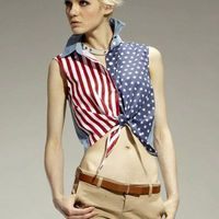 Tie-Front American Flag Sleeveless Shirt #fashion #HotHers #makeup #dress #skirt #Dazehub @clothinginfluence #wanelo #seeitbefore #clothes #Klout #clothing #fashionable #instafashion #swag #swagger #model #style #musthave #weheartit #girly #classy #hair #fashiondiaries #pants #ootd #highheels #shoes #lingerie #accessories #tagstagramers #independence