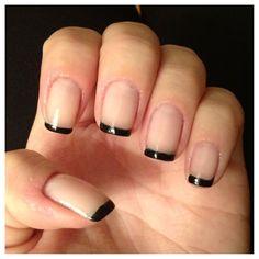 francesinha preta nails unhas