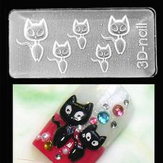Cat Mold-3D Molds take the tedious hand work & time out of 3D nail art! With the ability to use them with gel or acrylic the limits are endless! $6.95