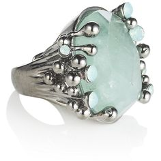 Oh my Roberto Cavalli!  So pretty.  ROBERTO CAVALLI Abalone Shell Ring ($205) found on Polyvore