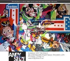 https://www.facebook.com/andyseizeart #graffiti #streetart #art #london #contemporary #painting #cartoon