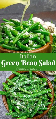 You can serve this green bean salad hot or cold. Best Salad Recipes, Delicious Recipes, Yummy Food, Italian Green Beans, Healthy Foods, Healthy Recipes, Green Bean Salads, Healthy Style, Party Dishes